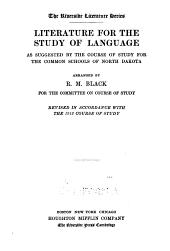 Literature for the Study of Language: As Suggested by the Course of Study for the Common Schools of North Dakota