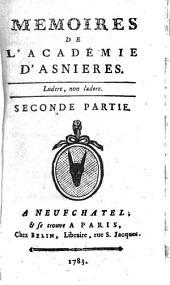 Mémoires De L'Académie D'Asnières: Volume2