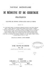 Nouveau dictionnaire de m  decine et de chirurgie pratiques PDF