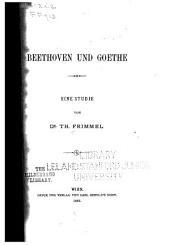 Beethoven und Goethe: eine Studie