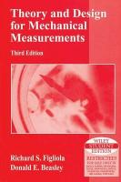 THEORY AND DESIGN FOR MECHANICAL MEASUREMENTS  3RD ED  With CD   PDF