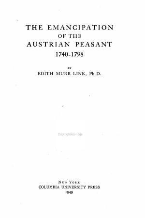 Studies in History  Economics  and Public Law