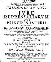 Diss. ... de iure repressaliarum inter principes Imperii