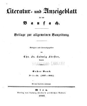 Literatur  und Anzeigeblatt F  r Das Baufach PDF