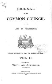 Journal of the Common Council, of the City of Philadelphia, for ...: Volume 2, Part 1