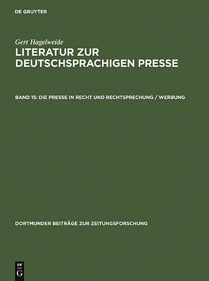 Die Presse in Recht und Rechtsprechung   Werbung PDF