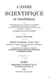 L'Année scientifique et industrielle: Volume33