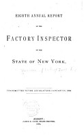 Annual Report of the Factory Inspectors of the State of New York PDF