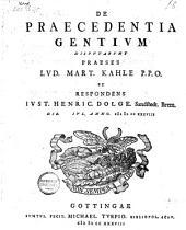 De praecedentia gentium