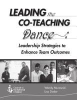 Leading the Co Teaching Dance  PDF