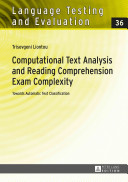 Computational Text Analysis and Reading Comprehension Exam Complexity PDF