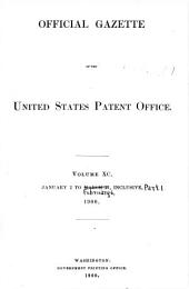 Official Gazette of the United States Patent Office: Volume 90, Part 1