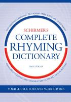 Schirmer s Complete Rhyming Dictionary PDF