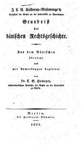 Grundriss der daenischen Rechtsgeschichte