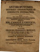 Anthropotomes historico-chondrologicae conspectus systematicus