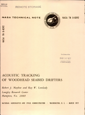 Acoustic Tracking of Woodhead Seabed Drifters PDF