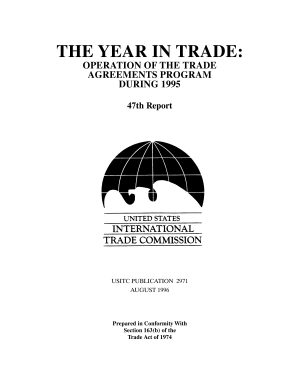 Operation of the Trade Agreements Program  The Year in Trade  47th Report 1995 PDF