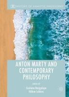 Anton Marty and Contemporary Philosophy PDF