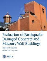 Evaluation of Earthquake Damaged Concrete and Masonry Wall Buildings PDF