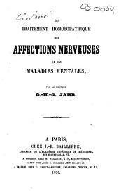Du traitement homoeopathique des affections nerveuses et des maladies mentales