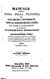 Manuale della Storia della Filosofia: Volume 1