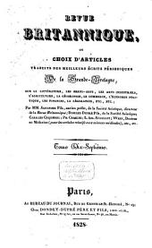 Revue Britannique ou choix d'articles traduits des meilleurs écrits périodiques da la Grande-Bretagne [etc.].: Volume15