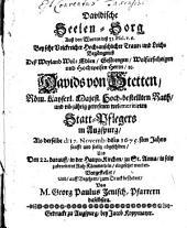 Davidische Seelen-Sorg: aus 31. Psal. v. 6 bey (der) Leich-Begängnuß Davids v. Stetten Statt-Pflegers in Ausgpurg vorgestellt