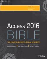 Access 2016 Bible PDF