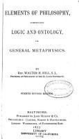 Elements of philosophy PDF