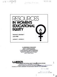 Resources In Women S Educational Equity Book PDF