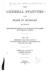 The General Statutes of the State of Michigan PDF