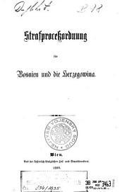 Strafprocessordnung für Bosnien und die Herzegowina