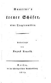 Guarini's treuer Schäfer: eine tragicomödie