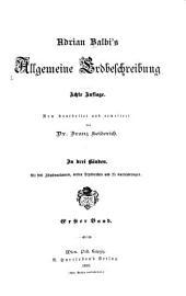 Allgemeine Erdbeschreibung: Band 1