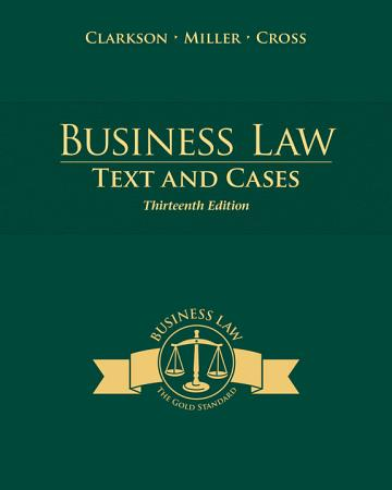Business Law  Texts and Cases PDF