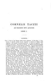 The Annals of Tacitus with a Commentary by the Rev. Percival Frost, M.A