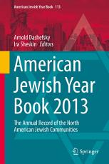 American Jewish Year Book 2013 PDF