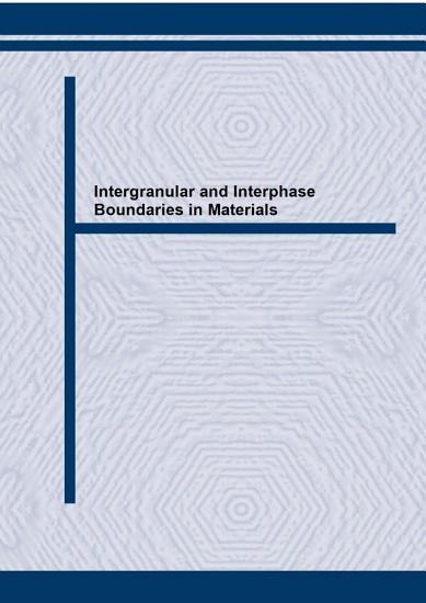 Intergranular and Interphase Boundaries in Materials PDF