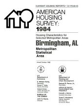 Current housing reports: American housing survey, Salt Lake City, UT, metropolitan statistical area. Housing characteristics for selected metropolitan areas, Volume 3