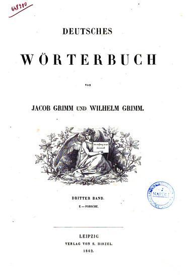 Deutsches Worterbuch von Jacob Grimm und Wilhelm Grimm PDF