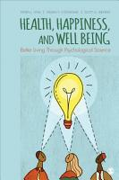 Health  Happiness  and Well Being PDF