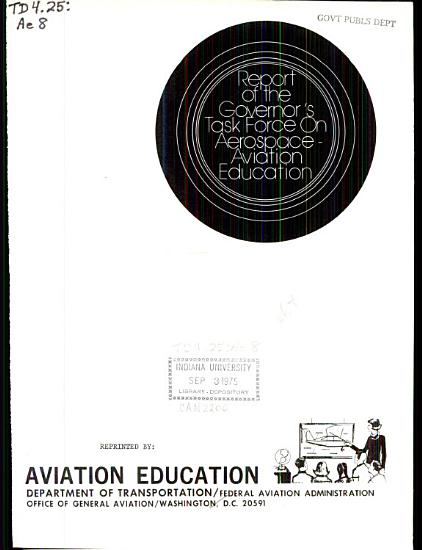 Report of the Governor s Task Force on Aerospace Aviation Education PDF