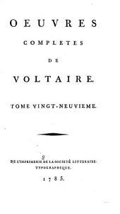 Œuvres complètes de Voltaire: Volume29