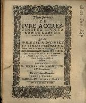 Theses Iuridicae De Iure Accrescendi Ex L. Unica Cod. De Caducis Tollendis