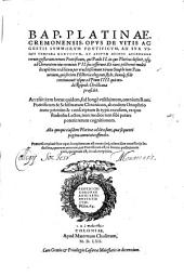 De Vitis ac gestis Summorum Pontificum ad sua usque Tempora Liber unus