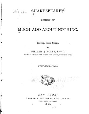 Shakespeare s Comedy of Much Ado about Nothing