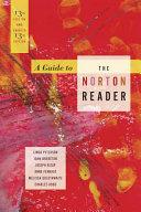 A Guide To The Norton Reader Eleventh Edition Book PDF