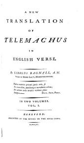 A new translation of Telemachus in English verse, by G. Bagnall