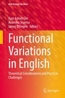 Functional Variations in English PDF