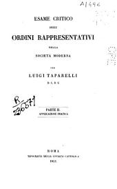 Esame critico degli ordini rappresentativi nella Società Moderna: Parte 2